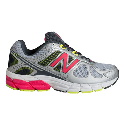 Womens New Balance 670v1 Running Shoe - Silver/Pink 7.5