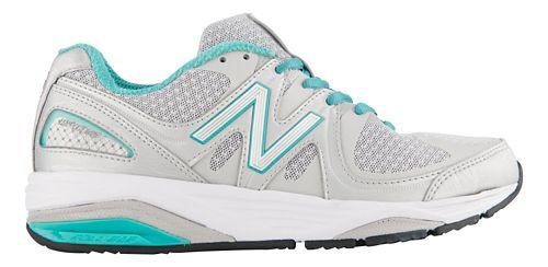 Womens New Balance 1540v2 Running Shoe - Silver/Green 8.5