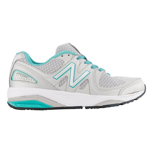 Womens New Balance 1540v2 Running Shoe - Silver/Green 10.5