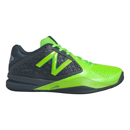 Mens New Balance 996v2 Court Shoe - Grey/Green 16