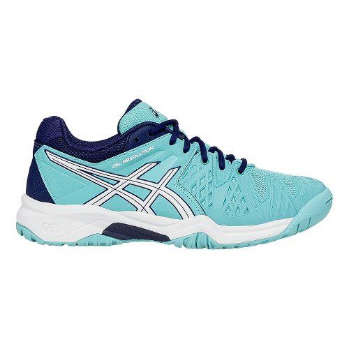 Kids ASICS GEL-Resolution 6 Court Shoe - Blue/White 5.5Y