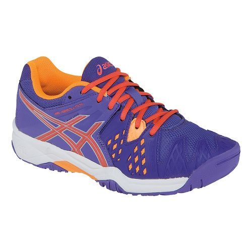 Kids ASICS GEL-Resolution 6 GS Court Shoe - Lavender/Hot Coral 4.5