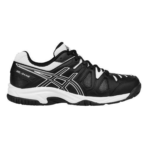 Kids ASICS GEL-Game 5 GS Court Shoe - White/Hot Coral 3.5