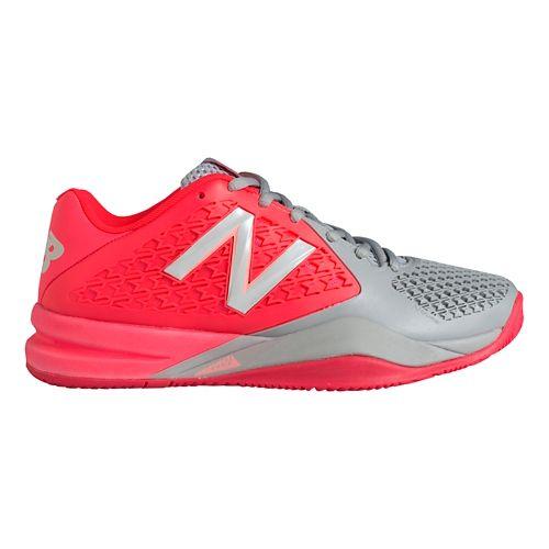 Womens New Balance 996v2 Court Shoe - Pink/Dark Grey 5