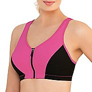 Womens Glamorise High Impact Zipper Front B/C Sports Bras - Pink 40C
