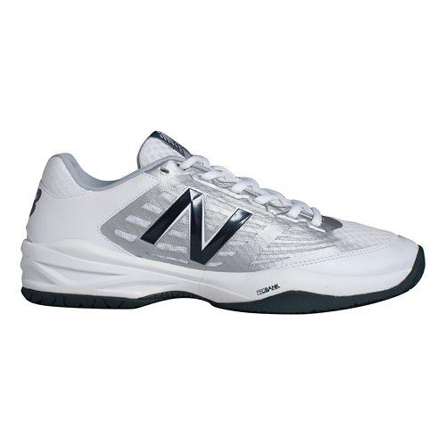 Mens New Balance 896 Court Shoe - White/Blue 12.5