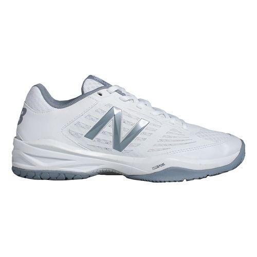 Womens New Balance 896 Court Shoe - White/Sliver 10