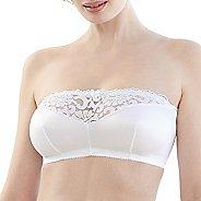 Womens Glamorise Complete Comfort Strapless Bandeau B/C/D Inner Bras