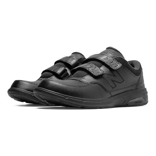Mens New Balance 813 Walking Shoe - Strap Black 7.5