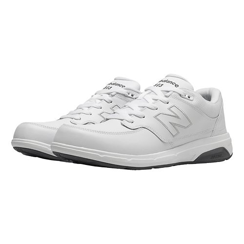 Mens New Balance 813 Walking Shoe - Strap White 7