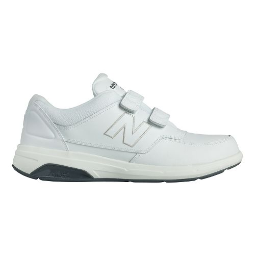 Mens New Balance 813 Velcro Walking Shoe - Strap White 7.5