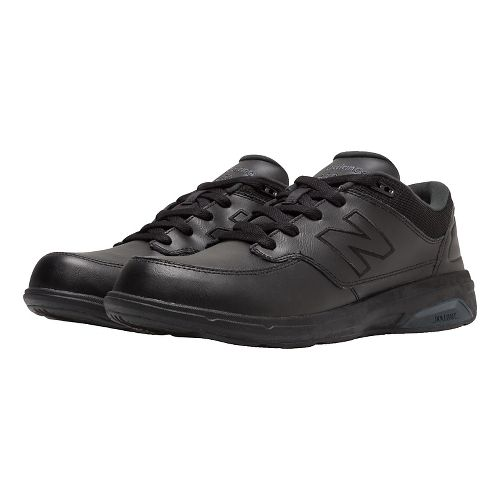 Mens New Balance 813 Walking Shoe - Strap Black 7.5
