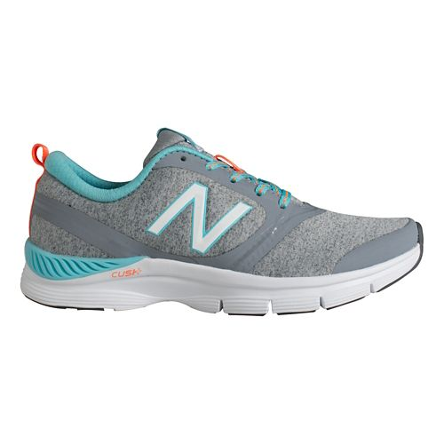 Womens New Balance 711 Cross Training Shoe - Silver/Blue 7.5