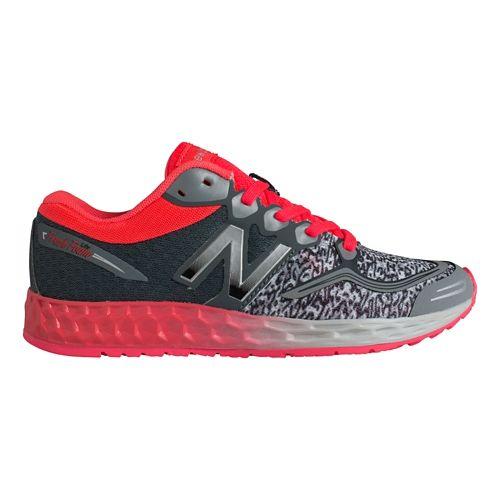 Kids New Balance Fresh Foam Zante Running Shoe - Grey/Pink 3