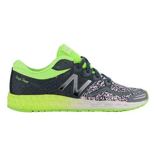 Kids New Balance Fresh Foam Zante Running Shoe - Grey/Yellow 1.5