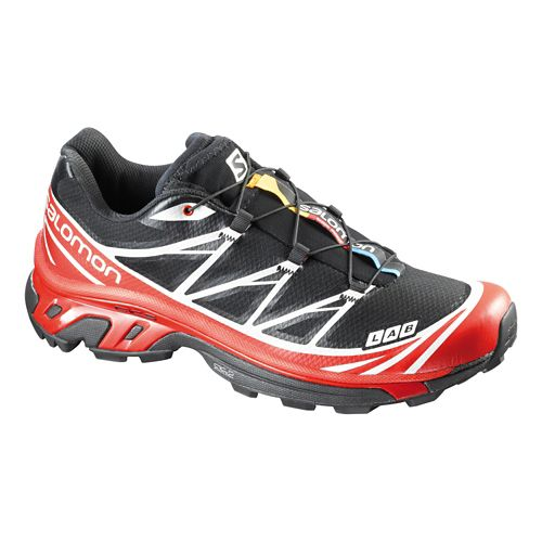 Unisex Salomon S-Lab XT 6 Softground Trail Running Shoe - Black/Red 6.5