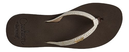 Womens Reef Star Cushion Sassy Sandals Shoe - Brown/White 5