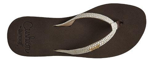 Womens Reef Star Cushion Sassy Sandals Shoe - Brown/White 7