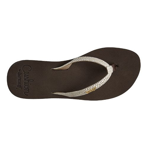 Womens Reef Star Cushion Sassy Sandals Shoe - Brown/White 11