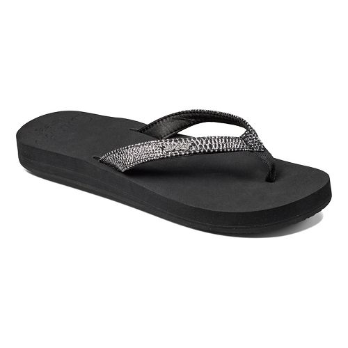 Womens Reef Star Cushion Sassy Sandals Shoe - Brown/White 5