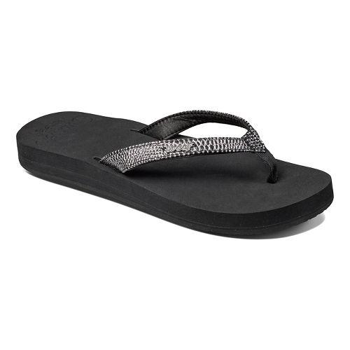Womens Reef Star Cushion Sassy Sandals Shoe - Brown/White 9