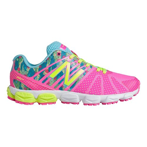 Kids New Balance 890v5 G Running Shoe - Green Pink 5.5