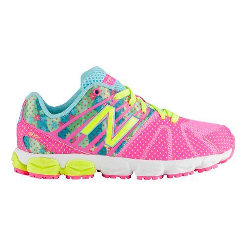 Kids New Balance 890v5 P Running Shoe - Green/Pink 1.5