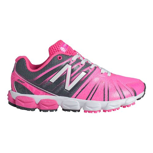 Kids New Balance 890v5 P Running Shoe - Pink/Black 13.5