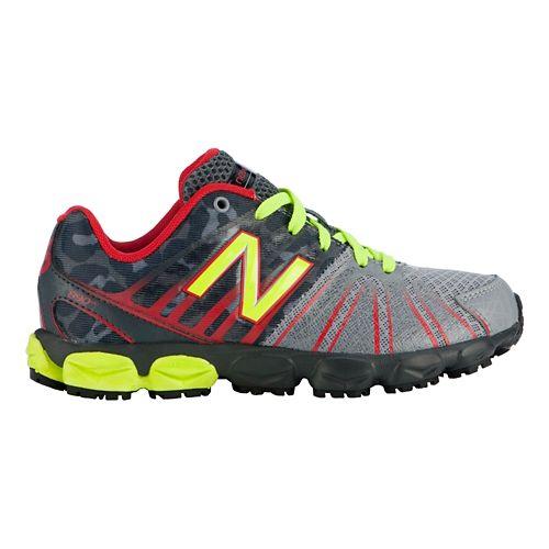 Kids New Balance 890v5 P Running Shoe - Green/Pink 11.5