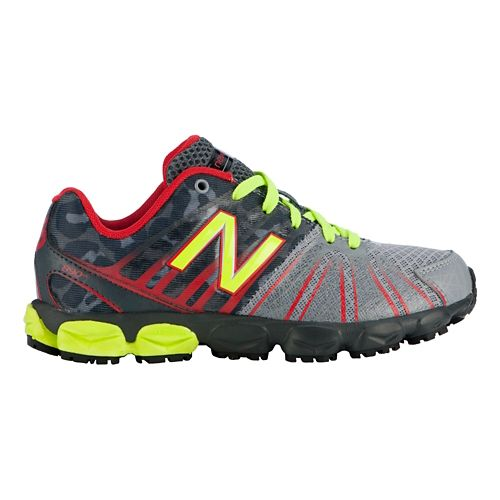 Kids New Balance 890v5 P Running Shoe - Green/Pink 12