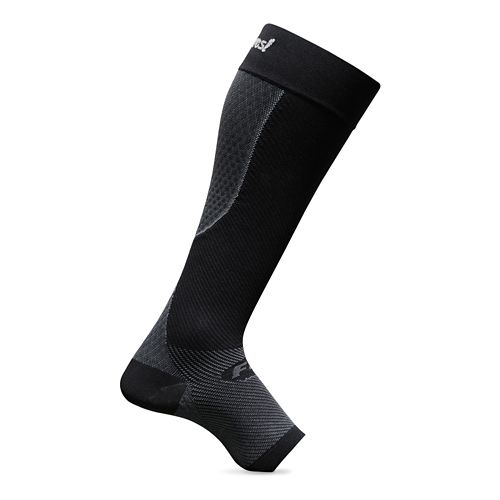 Feetures Plantar + Calf Sleeve - Black L