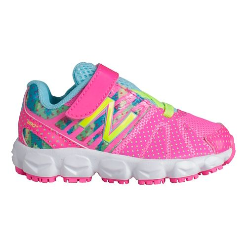 Kids New Balance 890v5 I Running Shoe - Green/Pink 5