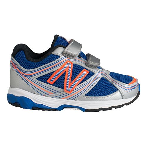 Kids New Balance 636 I Running Shoe - Silver/Blue 8.5
