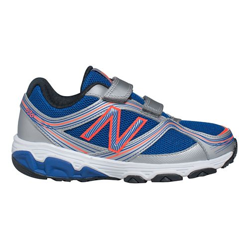 Kids New Balance 636 P Running Shoe - Silver/Blue 5.5