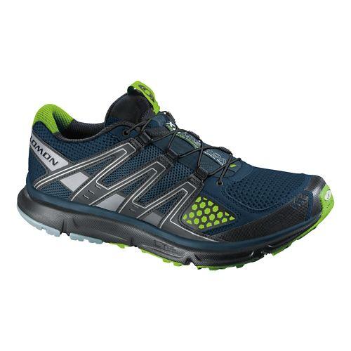 Mens Salomon XR Mission Trail Running Shoe - Blue/Grey 8.5