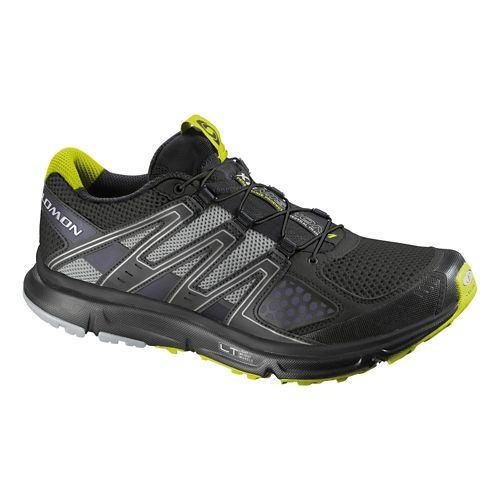 Mens Salomon XR Mission Trail Running Shoe - Black/Grey 10.5