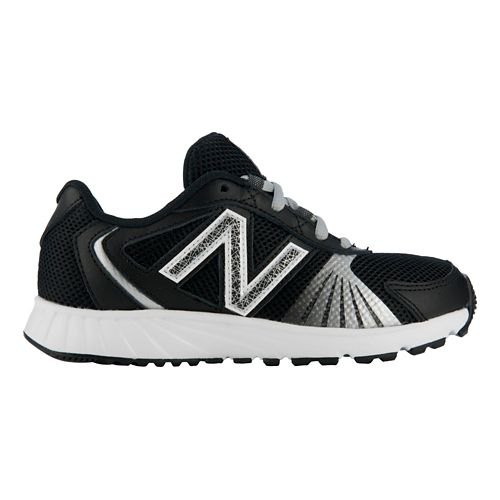Kids New Balance 555 Running Shoe - Black/White 10.5