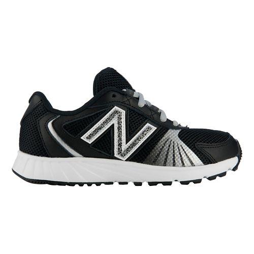 Kids New Balance 555 Running Shoe - Black/White 10.5