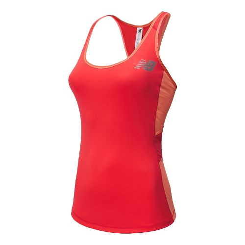 Womens New Balance Excel Race Day Singlet Tank Technical Top - Bright Cherry XL
