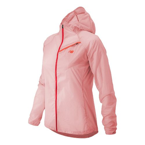 Womens New Balance Ultra Warm Up Hooded Jackets - Fiji M