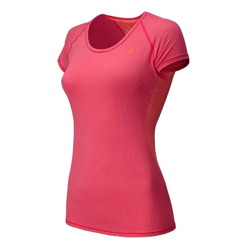 Womens New Balance Ultra Short Sleeve Technical Top - Bright Ch Heather L