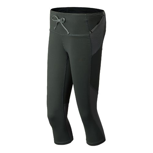 Womens New Balance Ultra Capri Tights - Anthracite L