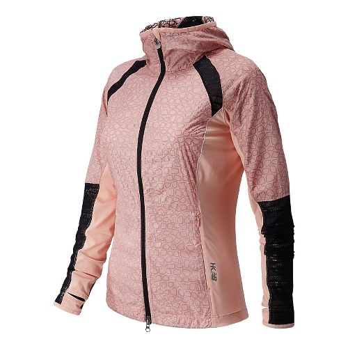 Womens New Balance Performance Warm Up Hooded Jackets - Luxe Pink L