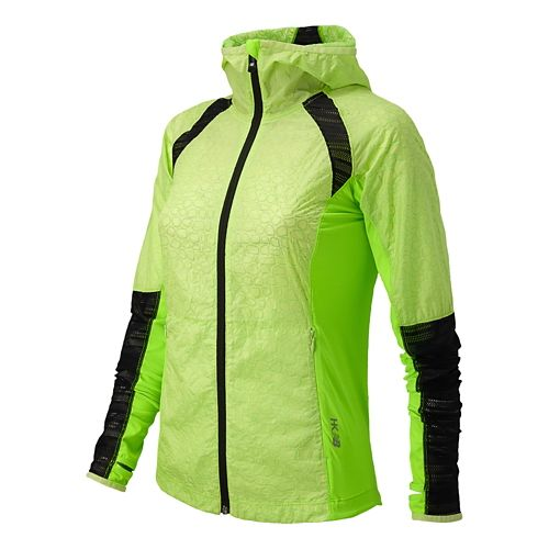 Womens New Balance Performance Warm Up Hooded Jackets - Wasabi S