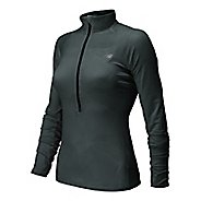 Womens New Balance Impact Graphic Long Sleeve Half Zip Technical Top