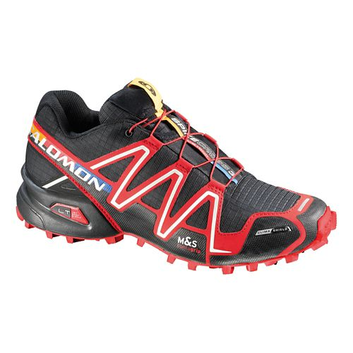 Unisex Salomon Spikecross 3 CS Trail Running Shoe - Black/Red 7.5