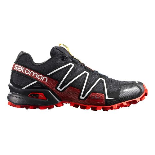 Unisex Salomon Spikecross 3 CS Trail Running Shoe - Black/Red/White 9