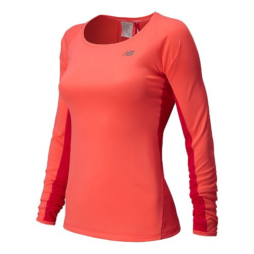 Womens New Balance Ice Long Sleeve No Zip Technical Top - Fiji M