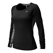 Womens New Balance Ice Long Sleeve No Zip Technical Top