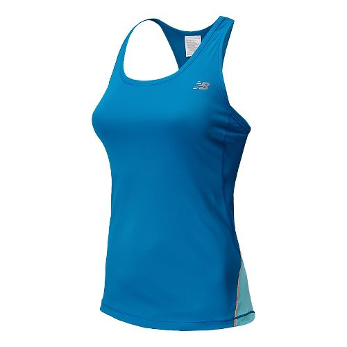 Womens New Balance Ice Tank Technical Top - Wave Blue XL